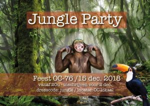 Inschrijving Jungle Party 15/12